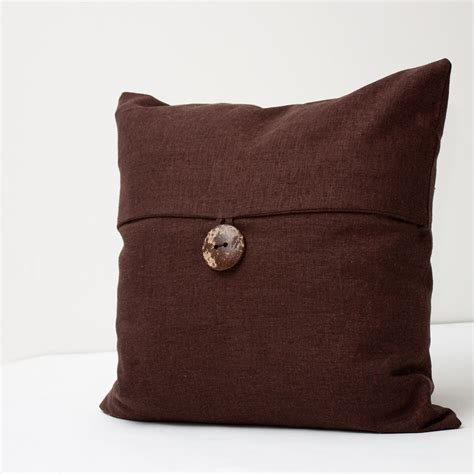 dark brown couch pillows dark brown linen decorative pillow cover by alexisandradesign