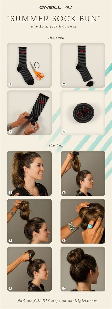diy sock bun for hair diy summer sock bun pictures photos and images for