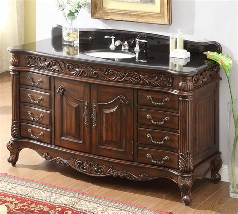 Bathroom Vanities 4 Less by 60 Inch Bathroom Vanity Traditional Rich Cherry Cabinet