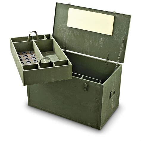 New Storage Box new u s wood storage box olive drab 156647 storage containers at sportsman s guide