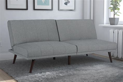 Futon Grey by Dorel Lone Pine Grey Linen Convertible Futon