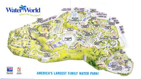map of us water parks water world water park 2005 park map