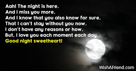 Goodnight i love you poem but i love you each moment