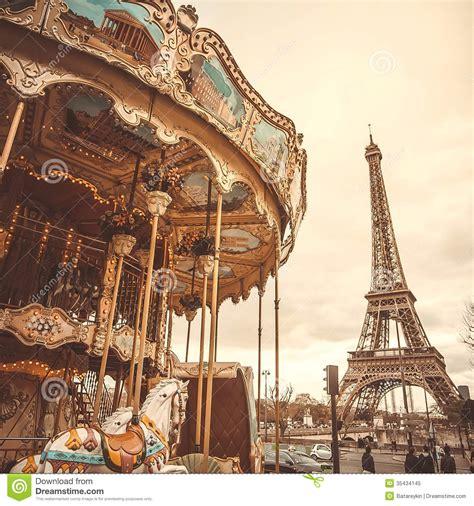 imagenes vintage de paris carrusel del vintage en par 237 s imagen de archivo imagen