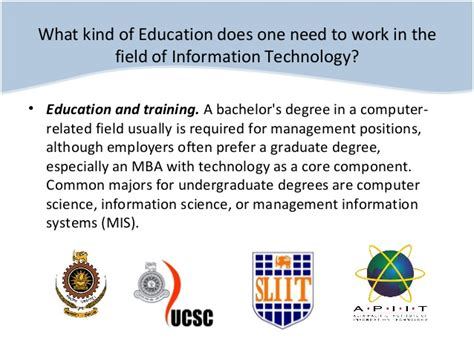 What Is Mba Information Technology Management by Information Technology Career Path Sri Lanka