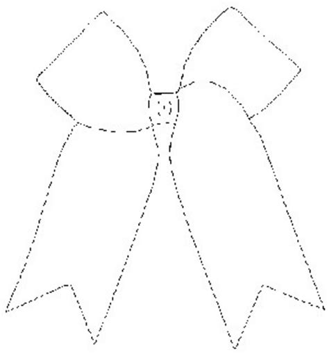 cheer bow coloring page best photos of cheer bow outline christmas bow clip art