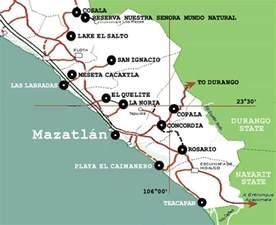 Sinaloa Mexico Map by Mazatlan Mexico Map