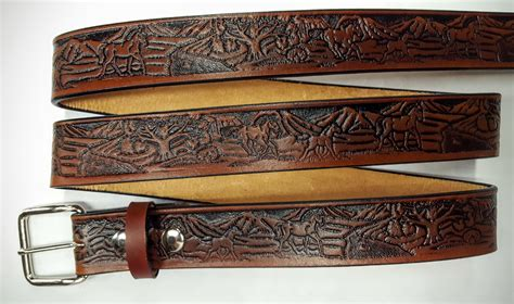 Handmade Belts Usa - leather embossed belt pasture leather belts usa