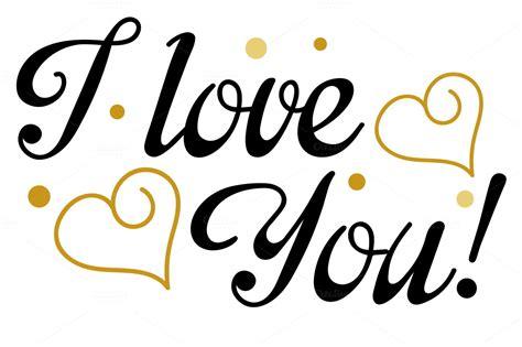 tattoo fonts i love you i you lettering design vector script fonts on