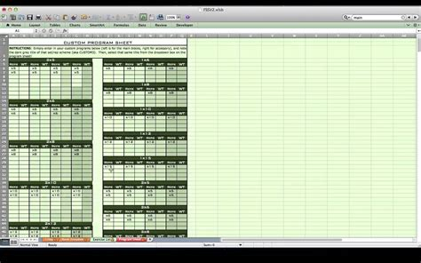 personal training excel spreadsheet from excel training