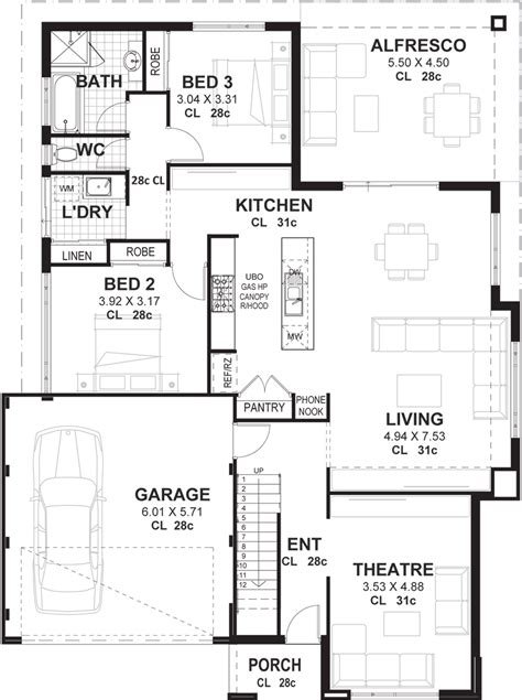 2 story home floor plans 3 bedroom 2 storey home designs perth vision one homes