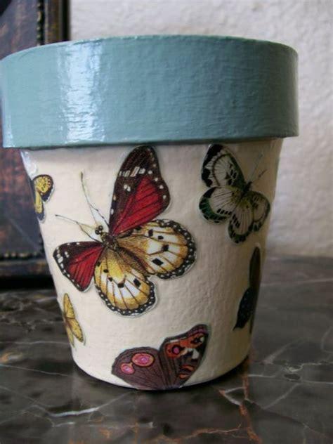Decoupage Pots - flower pots decoupage and pots on