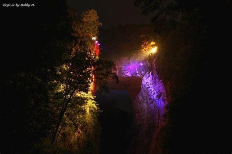 light show virginia bridge drama of creation light show at