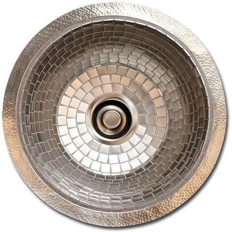 nickel plated copper sink linkasink v042 stainless steel mosiac tile nickel plated