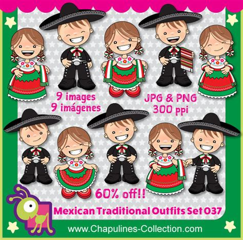 mexican outfits clipart china poblana  charro