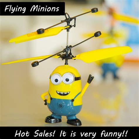 Minion Despicable Me Terbang Mainan Fliying Minion With Sensor rc helicopter despicable me 2 sensor flying minion shatter resistant remote minions