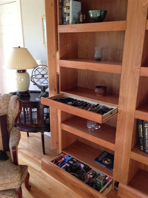 hidden gun cabinet shelf woodworking projects plans