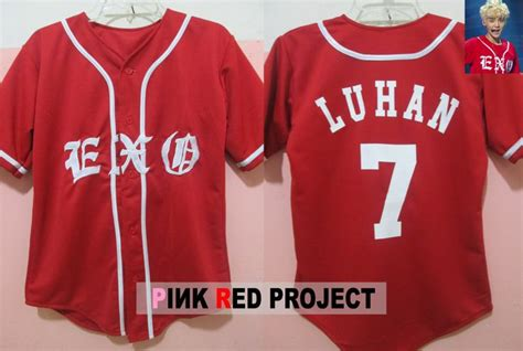 exo jersey number exo jersey in red exo luhan jersey exo pinterest