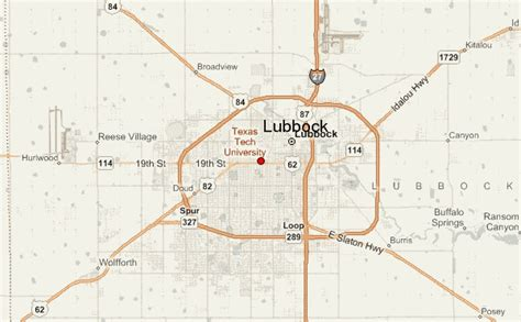 lubbock texas map lubbock location guide