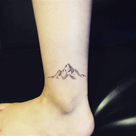 mountain range tattoo designs mountain range on the left ankle ankle tattoos