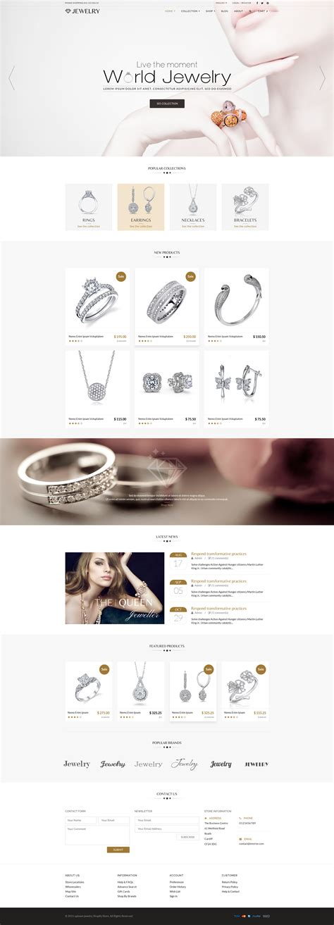 shopify themes for jewelry jewelry responsive shopify theme best theme deal