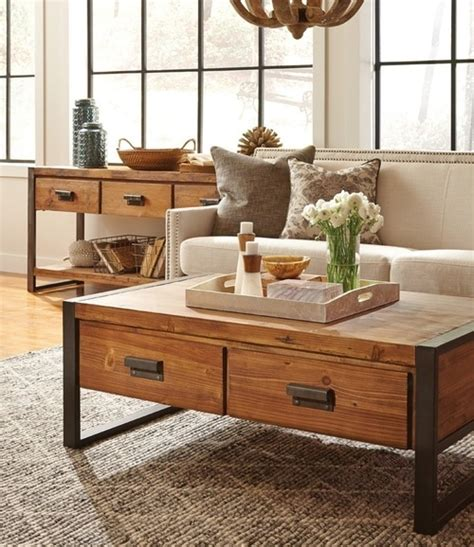 industrial coffee table with drawers rustic industrial coffee table with drawers zin home
