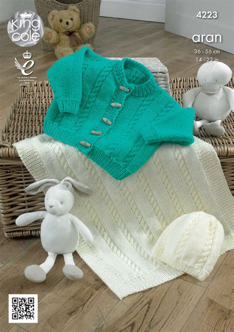 king cole aran knitting patterns baby knitting pattern king cole blanket cardigan and hat
