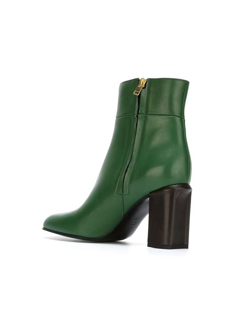 green boots marni ankle boots in green lyst