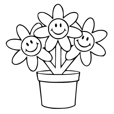 Coloring Page Flower Pot by Best Flower Pot Template Coloring Pages Pictures Free