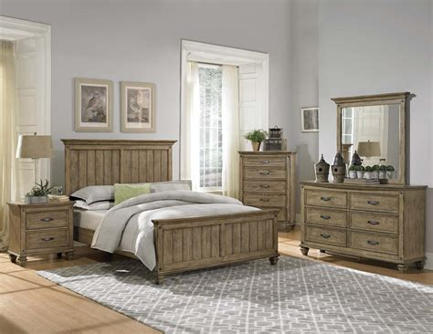 beach style bedroom furniture homelegance sylvania bedroom set driftwood oak 2298 bed