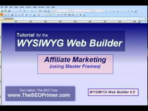 tutorial wysiwyg web builder pdf affiliate marketing with wysiwyg web builder master frame