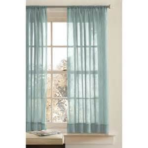 Crushed Voile Curtains Better Homes And Gardens Rod Pocket Crushed Voile Drapery Panel Walmart