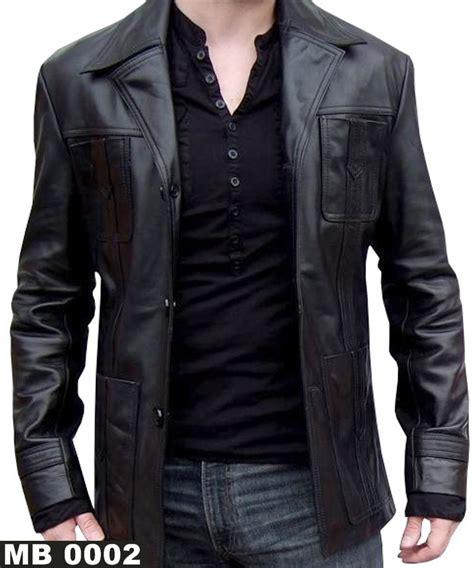 Jaket Kulit Pria Panjang mb 0002 jaket kulit model panjang 4 saku depan