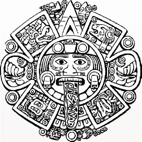 aztec pattern drawings color best photos of mexican mayan mask coloring page mayan
