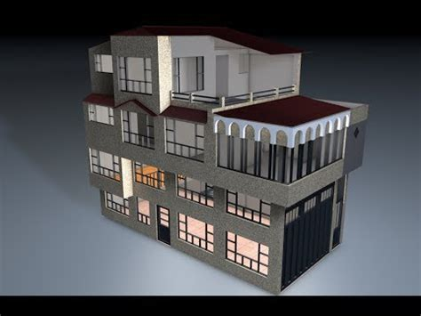 casa cinema modelado casa cinema4d r13 house c4d 01