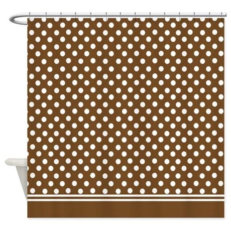 brown polka dot shower curtain brown polka dot shower curtain by inspirationzstore