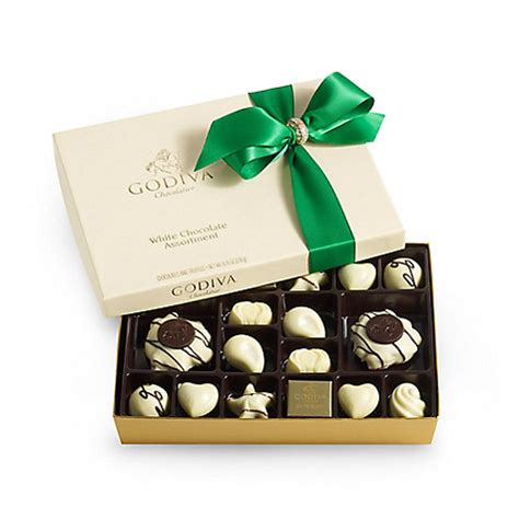A Box Of White Chocolate 24 pc white chocolate gift box godiva