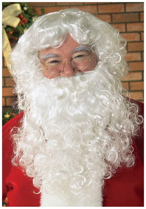 white santa wig and beard discount santa claus costume wigs