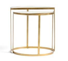 raz 25 quot gold circle nesting tables home decor home alistar nesting side tables set of 2 pottery barn