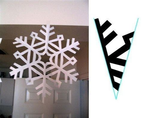 Paper Snowflakes Patterns - paper snowflake cutting pattern snowflakes paper