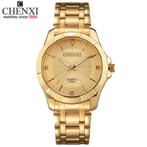 top quality clock fashion luxury chenxi brand gold