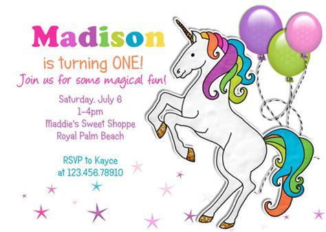 free unicorn invitations for birthday 9 best images of free printable unicorn invitations unicorn birthday invitations