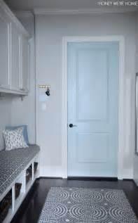 honey we re home painted mudroom door sherwin williams
