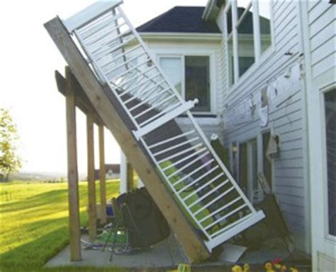 sitepro home inspections deck safety and proper deck