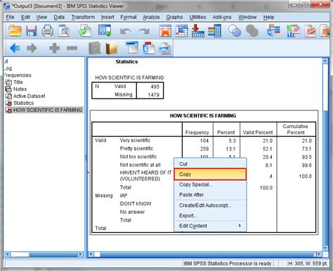 Spss Tutorial Training | copying tables to microsoft word department of
