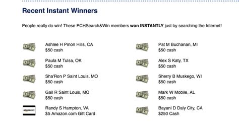 Pch Recent Winners - where can i find a recent pch winners list pch blog