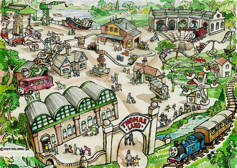 layout of the land north america s first thomas land theme park will open in
