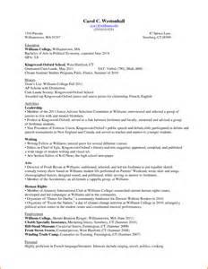 Resume Examples For College Freshmen 11 College Freshman Resume Template Denial Letter Sample