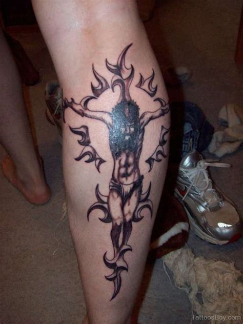 jesus christ tribal tattoo religious tattoos designs pictures