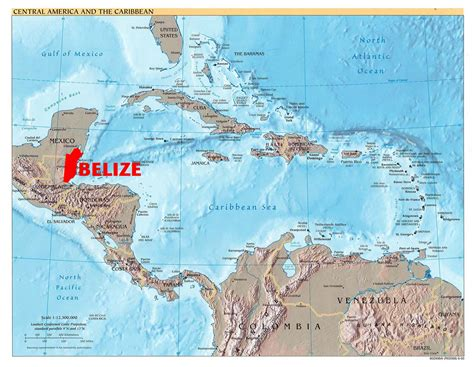 map of belize central america november 2011 lower dover field journal page 3